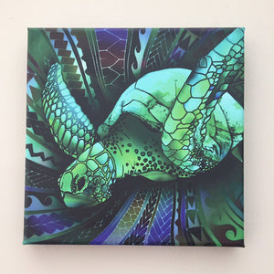 Samoan Turtle With Tribal Polynesian Canvas - Y7