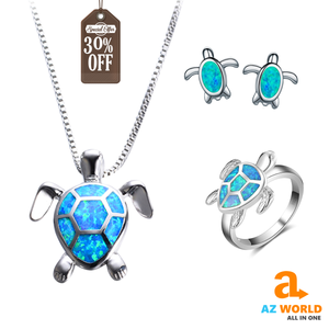 Opal Turtle Jewelry Sets