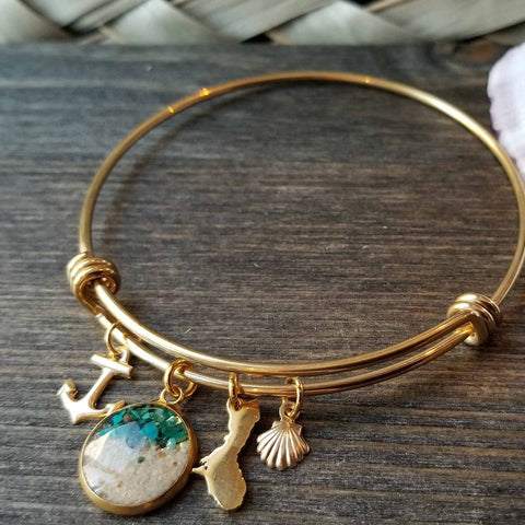 Image of Gold Guam Charm Bracelet with Sand - Y7
