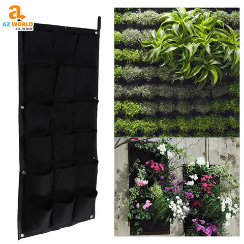 Image of Wall Pot plant Home & Garden Garden Tools Garden Flower AZ world store 18 Pockets Plant Wall Pot