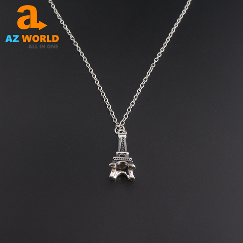 Eiffel Tower Silver Necklace - TR