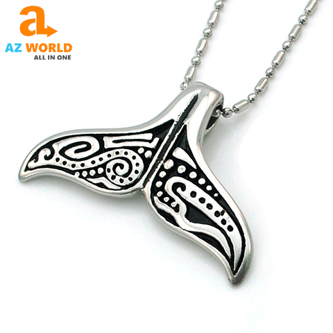 Image of Whale Tail Pendant Necklace - K