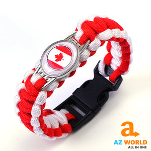 Canada Flag Woven Rope Bracelets
