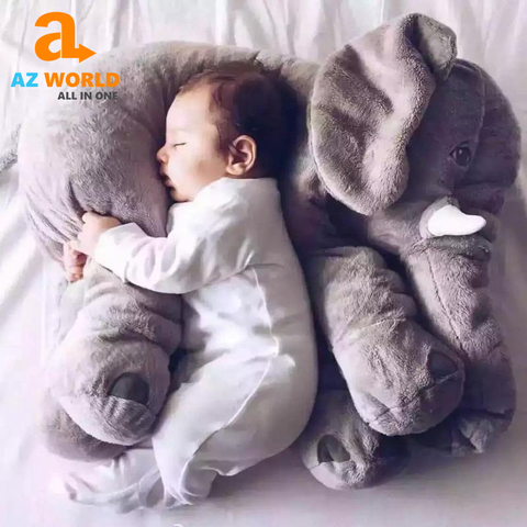 Image of Large Stuffed Elephant Pillow Toy For Kids