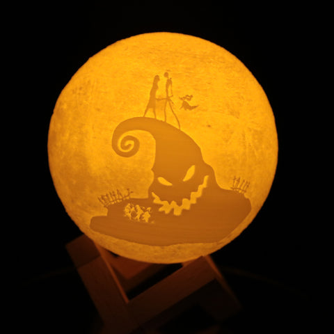 Nightmare Christmas Moon Lamp nightmare christmas nightmare christmas night lamp Moon Lamps Moon Lamp HOME DECORS home decoration home decor home accessories Home & Garden for bedroom bedroom Az World Store