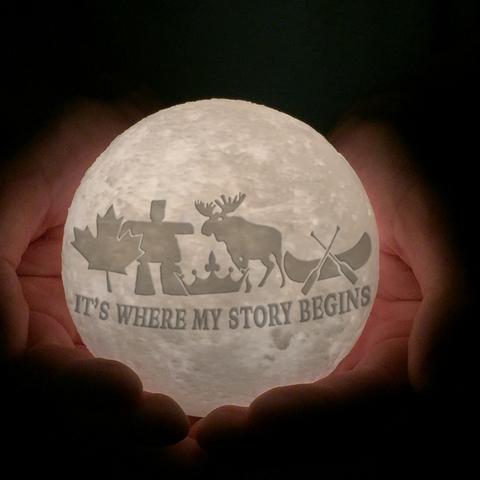 Canada It's Where Story Begins Moon Lamp - Special Product