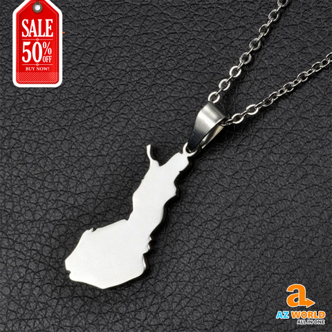Finland Map Necklace - TH