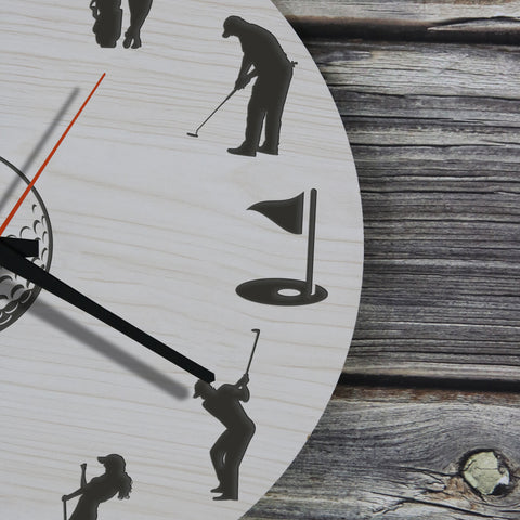 Golf Wooden Wall Clock