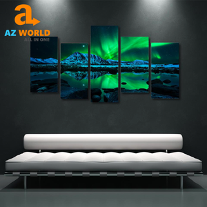 Northern Light 5 Panels Canvas Wall Art - TR