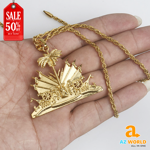 Image of Haiti Gold Plated Necklace - TU