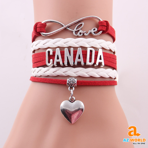 Canada Infinity Love Leather Bracelet