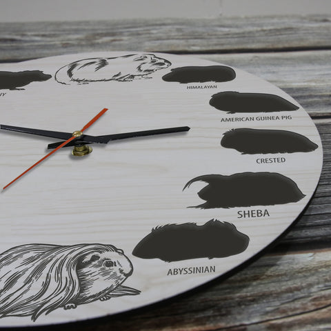 Guinea Pig Wooden Wall Clocks