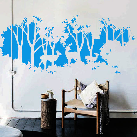 Deers In Forest Wall Decal - TU
