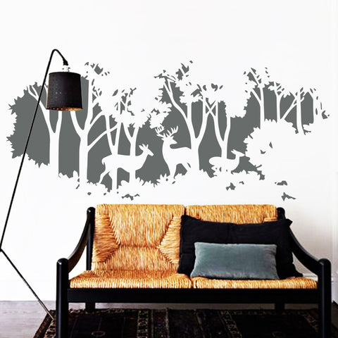 Image of Deers In Forest Wall Decal - TU