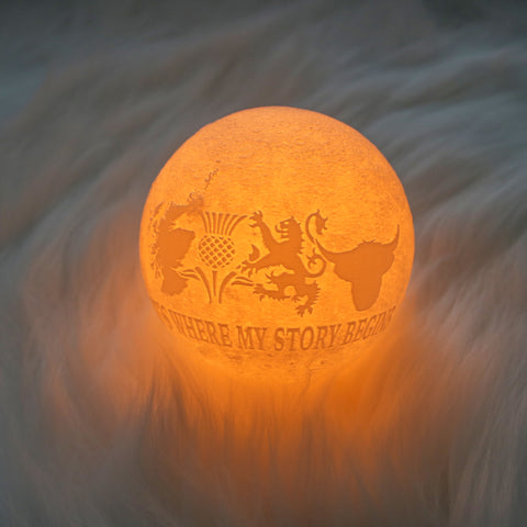 Image of Scotland It's Where Story Begins Moon Lamp - Special Product