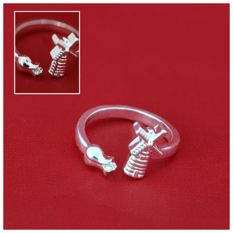 Netherlands Tulip And Windmill Adjustable Rings