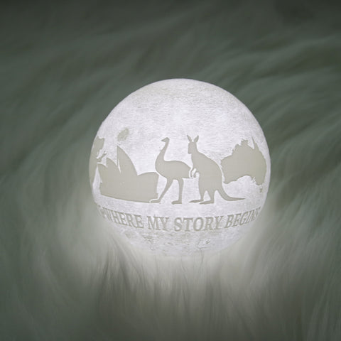 Australia It's Where Story Begins Moon Lamp - Special Product
