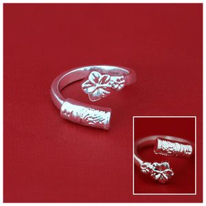 Hawaii Hibiscus And Tiki Adjustable Rings