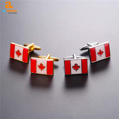 Image of Canadian Flag Cufflink - K