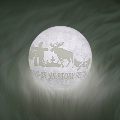 Image of Canada It's Where Story Begins Moon Lamp - Special Product