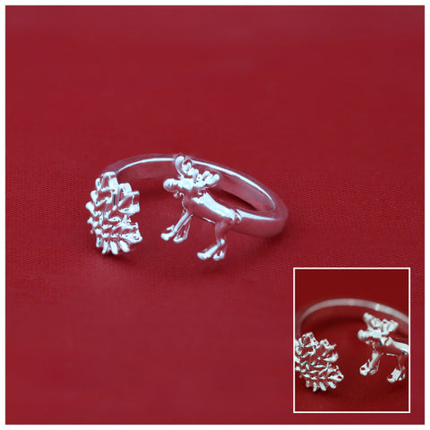 Canada Maple Leaf And Moose Adjustable Rings
