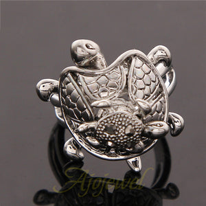 Sea Turtle Ring Mother Son  - TR