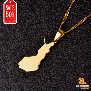 Finland Map Gold Plated Necklace - TH