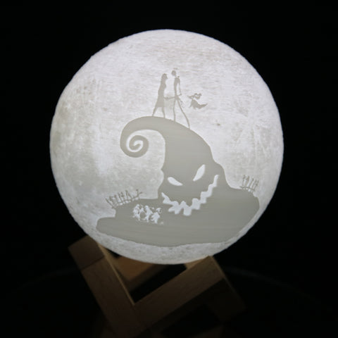 Image of Nightmare Christmas Moon Lamp nightmare christmas nightmare christmas night lamp Moon Lamps Moon Lamp HOME DECORS home decoration home decor home accessories Home & Garden for bedroom bedroom Az World Store