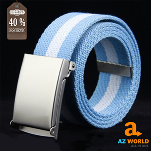 Argentina Flag Canvas Striped Belt