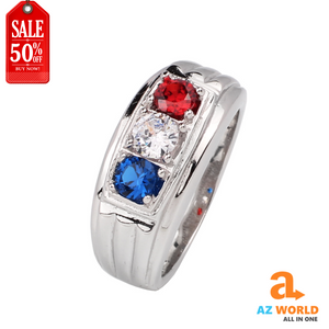 France Flag 925 Sterling Silver Ring - TR