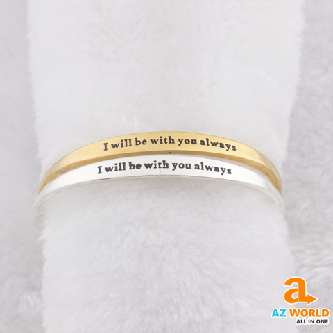 """ I will be with You, always  "" Bracelet"