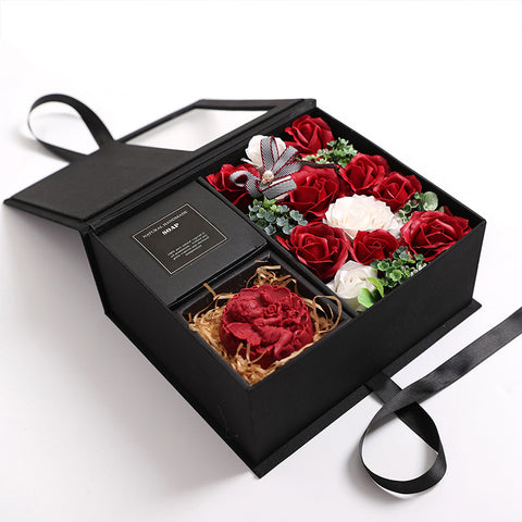 Soap Artificial Flowers Gift Box  - Valentine Special Collection