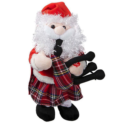 Dancing Santa with Bagpipes - y7