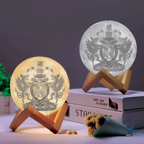 Wales Coat Of Arms Moon Lamp - Special Product