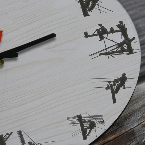 Lineman Wooden Wall Clock