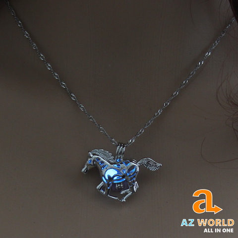 Image of Luminous Hollow Horse Necklace