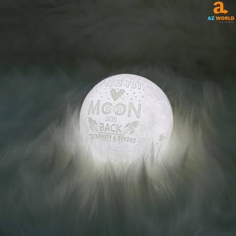 I Love You To The Moon And Back Moonlight Night Lamp - Touch Mode