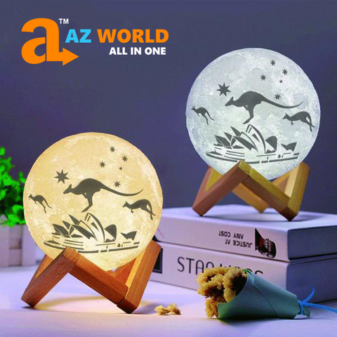 Australia Sydney Opera House And Kangaroo Moon Lamp - Special Product