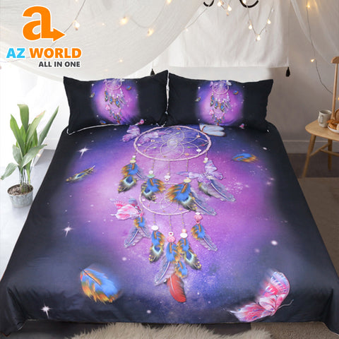 Image of Dreamcatcher Queen Romantic Purple Bedding Set