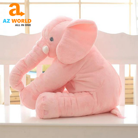 Large Stuffed Elephant Pillow Toy For Kids
