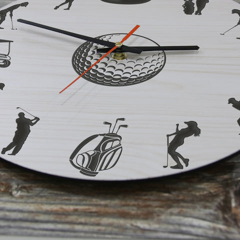 Image of Golf Wooden Wall Clock