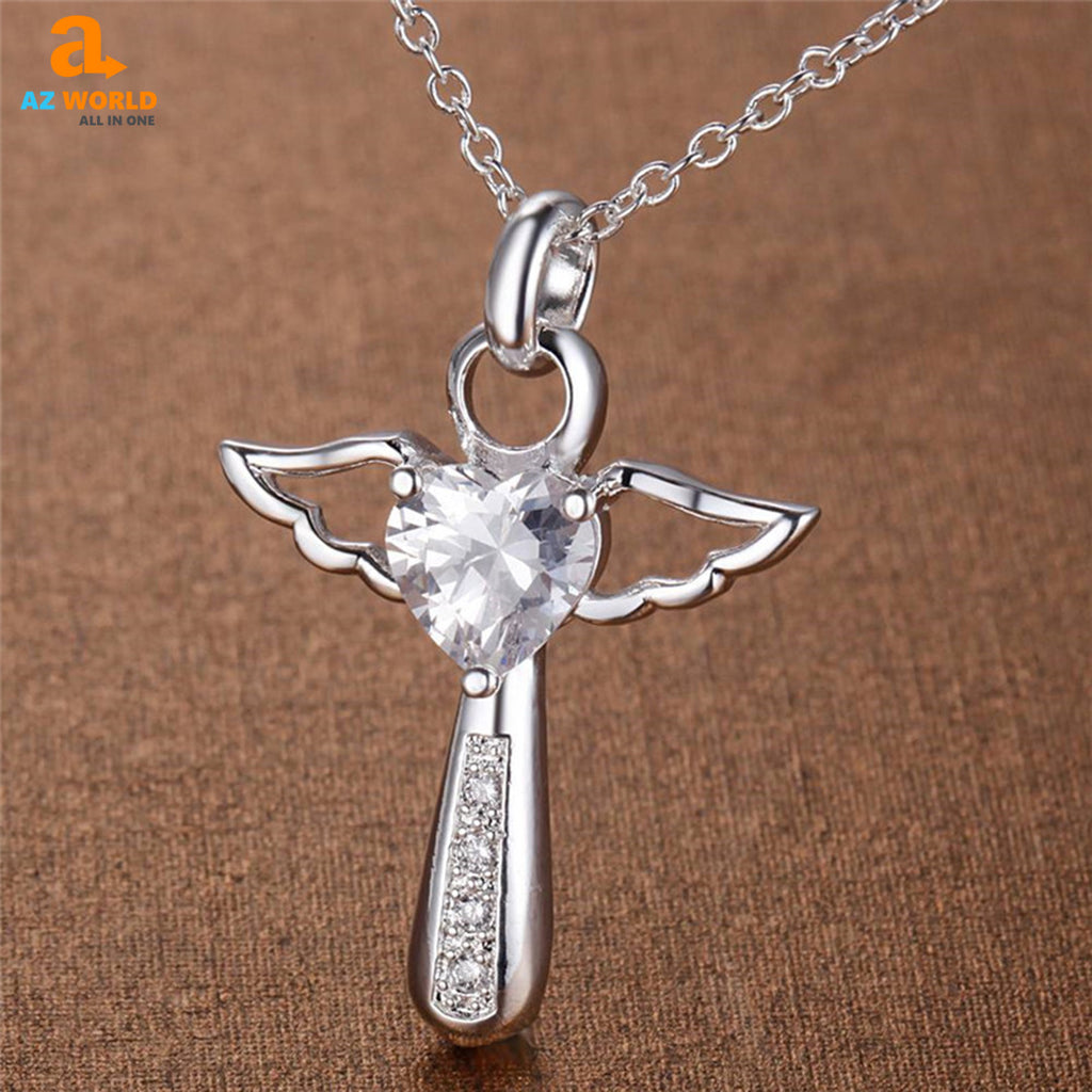 Angel Wings Cross Necklace - K