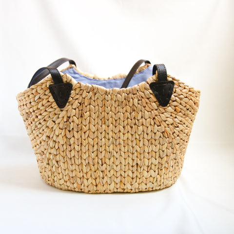 AZ Exclusive Handmade Water Hyacinth Straw Picnic Bag - LTL005