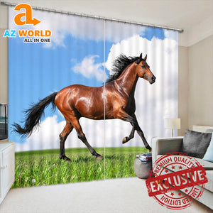 Horse Print Modern Luxury Blackout Curtains
