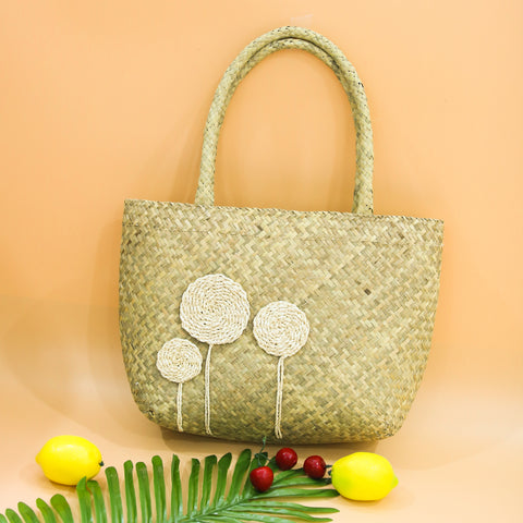 AZ Exclusive Handmade Seagrass Straw Beach Bag - LTL002
