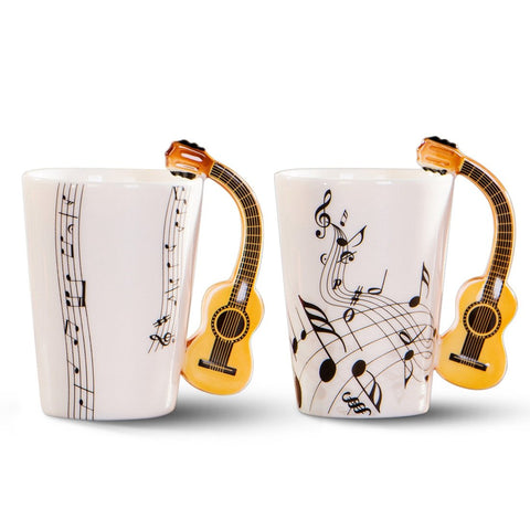 Musical Ceramic Guitar Mug T4