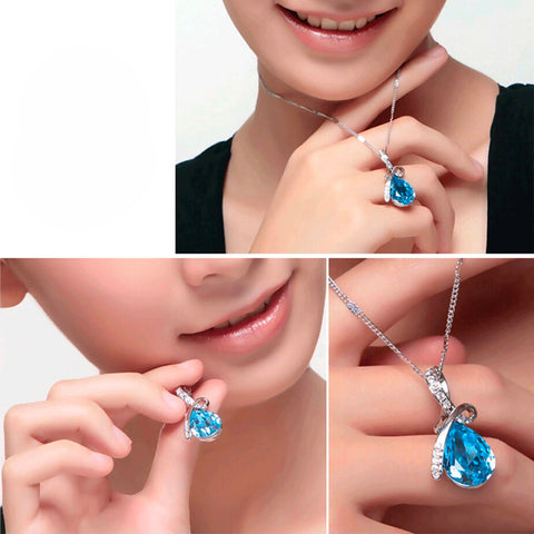 Crystal Necklaces Pendants And Jewerly - Necklace Women T4