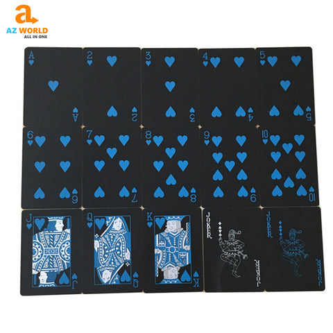 Image of Black Blue Playing Cards - K