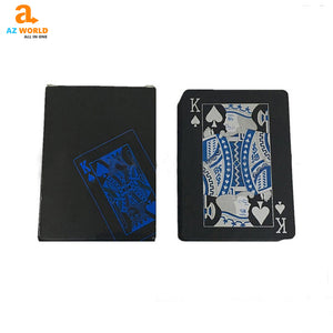 Black Blue Playing Cards - K