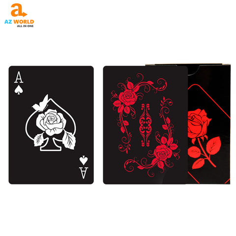 Image of Rose Design Playing Cards - K